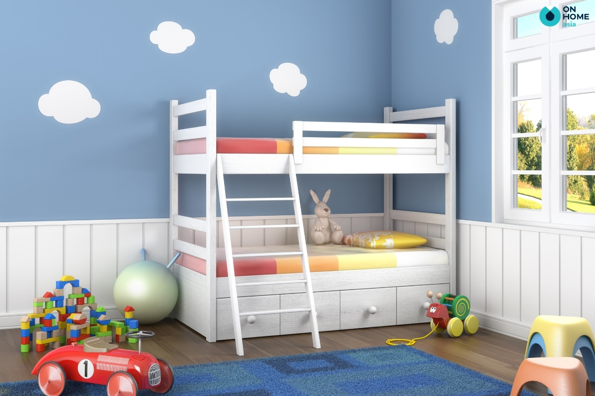 Mẫu phòng ngủ dành cho 2 bé trai
