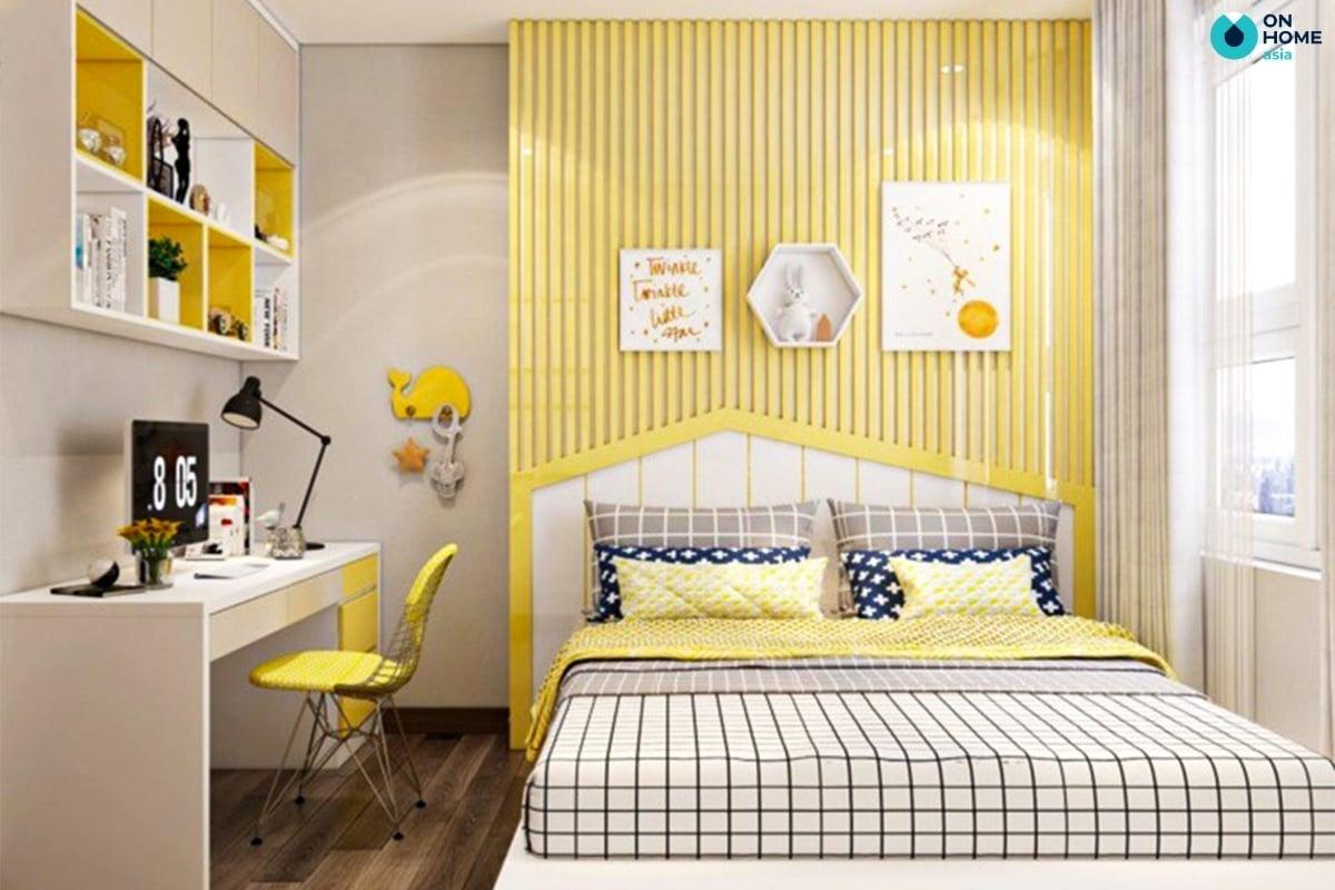 Phòng ngủ bé trai màu vàng