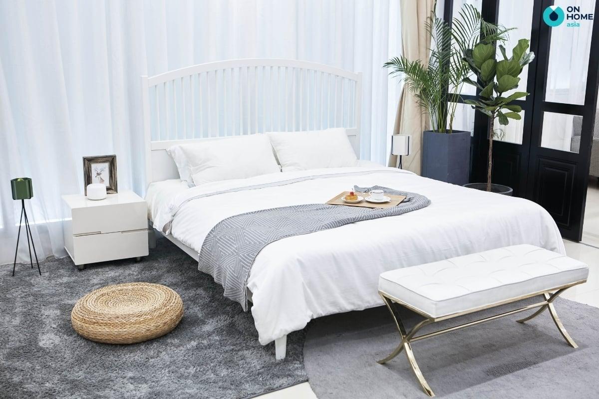 trang trí phòng ngủ bằng thảm