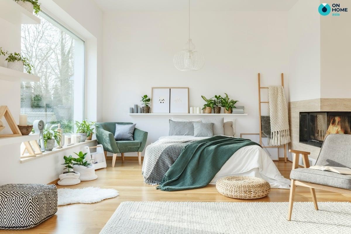thảm phòng ngủ phong cách bắc âu