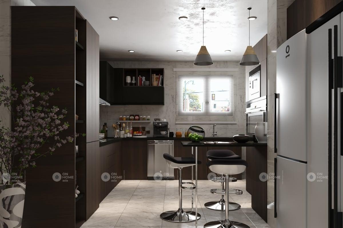 Thiết kế phòng bếp gọn gàng và hiện đại