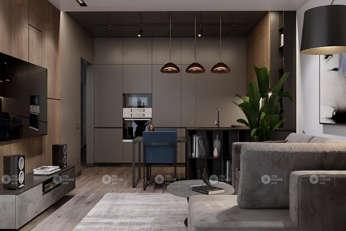 Thiết kế nội thất chung cư 60m2 với phong cách hiện đại