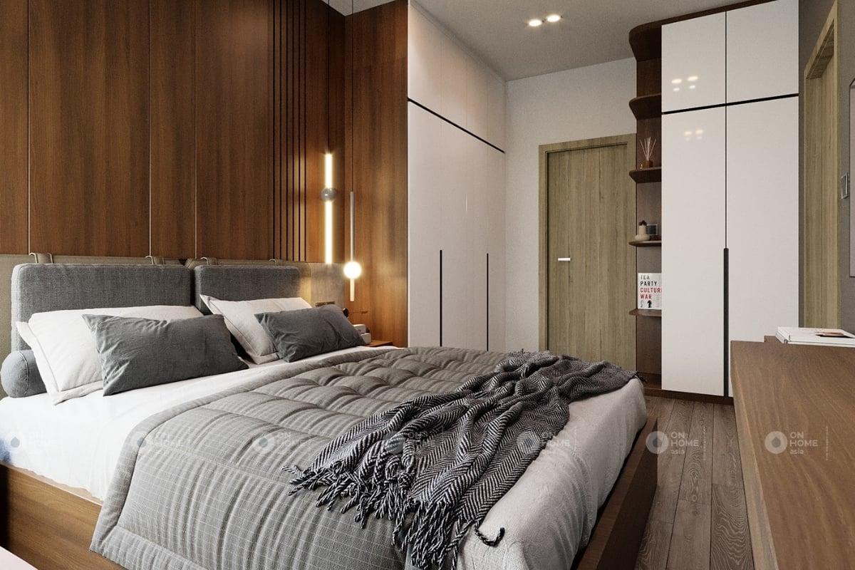 Thiết kế phòng ngủ master hiện đại với tông màu trắng