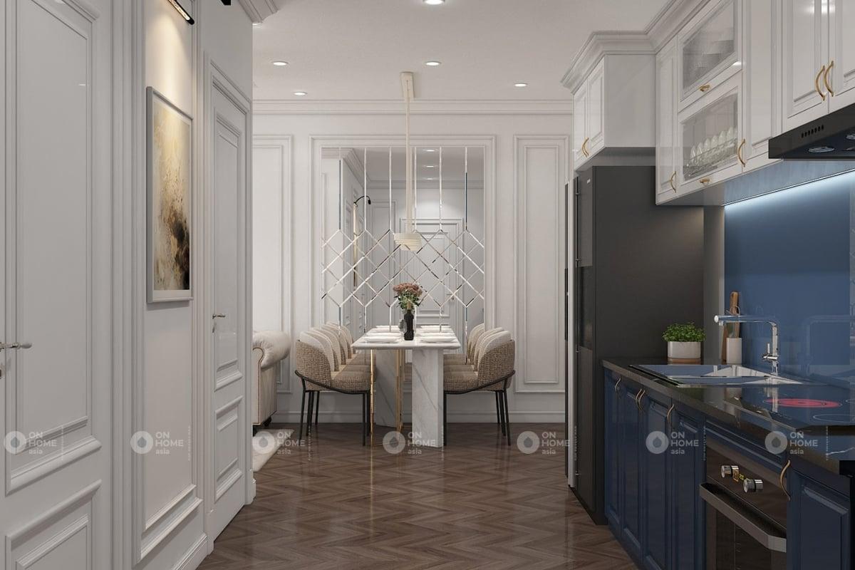 Thiết kế chung cư 60m2 theo phong cách tân cổ điển