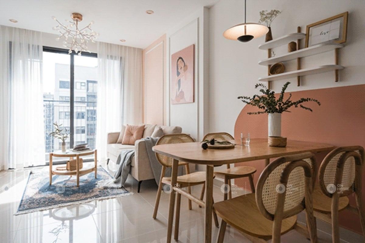 Thiết kế phòng khách và bếp liên thông với nhau