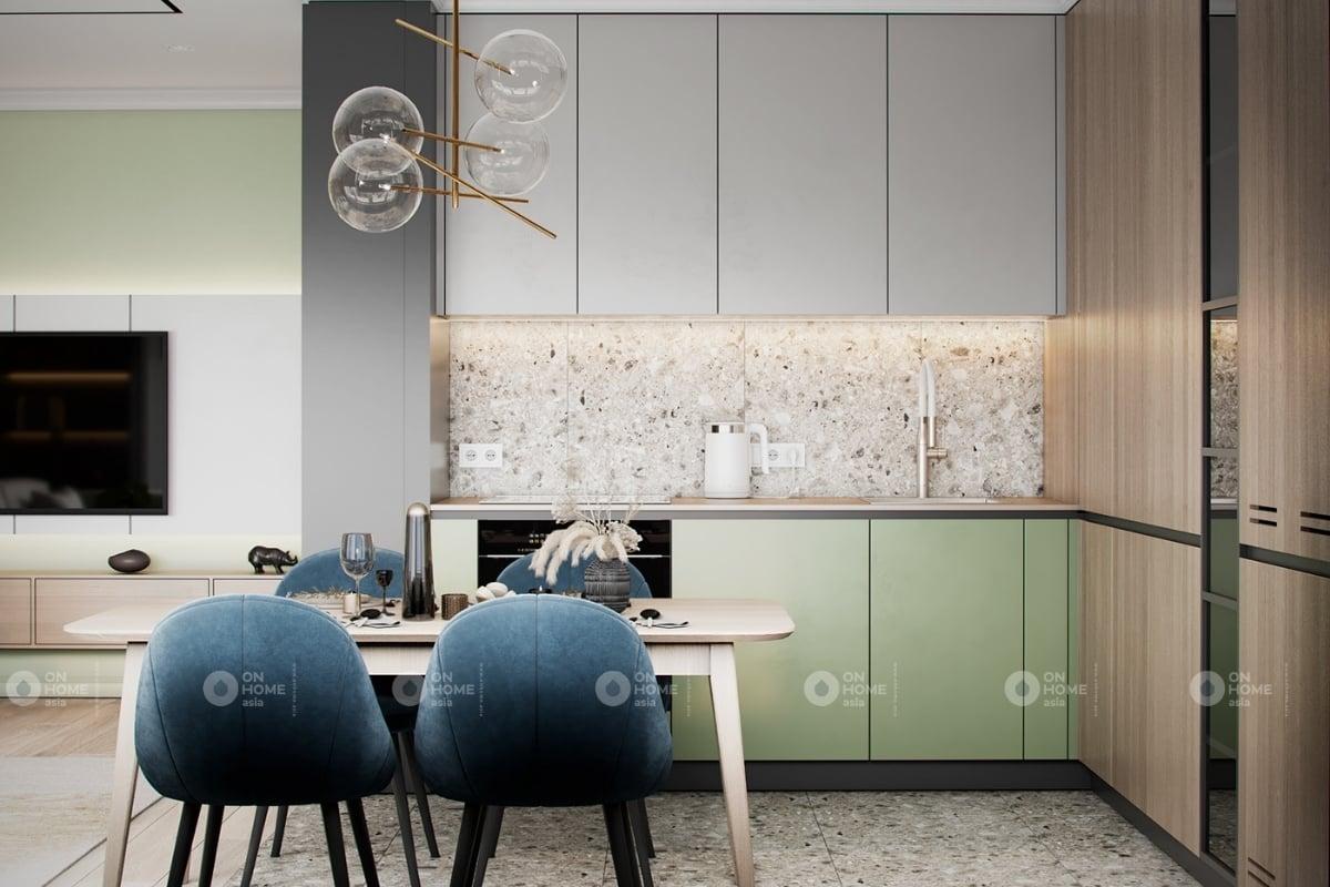 Thiết kế bàn ăn và tủ bếp hiện đại