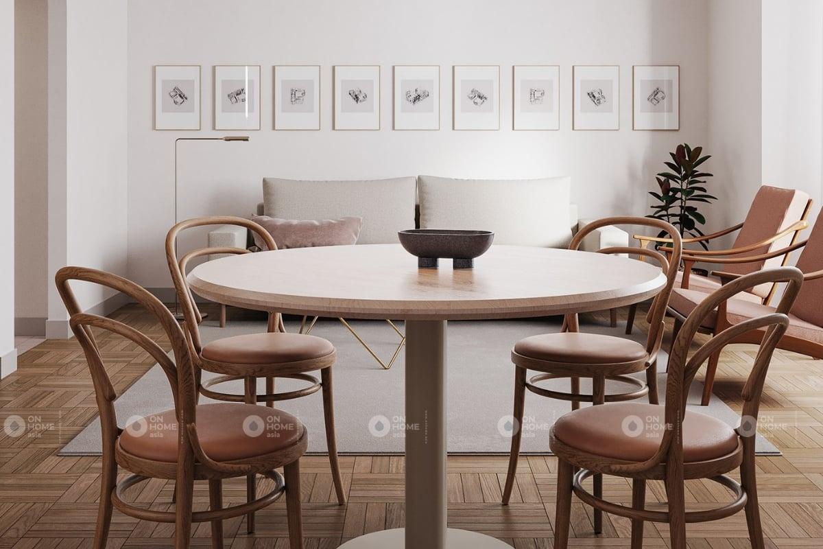 Một góc phòng khách và bàn ăn