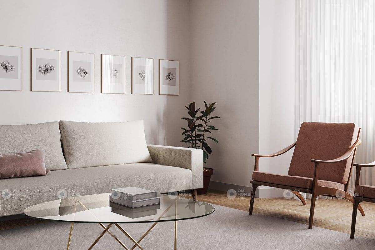 Một góc phòng khách mang phong cách Bắc Âu