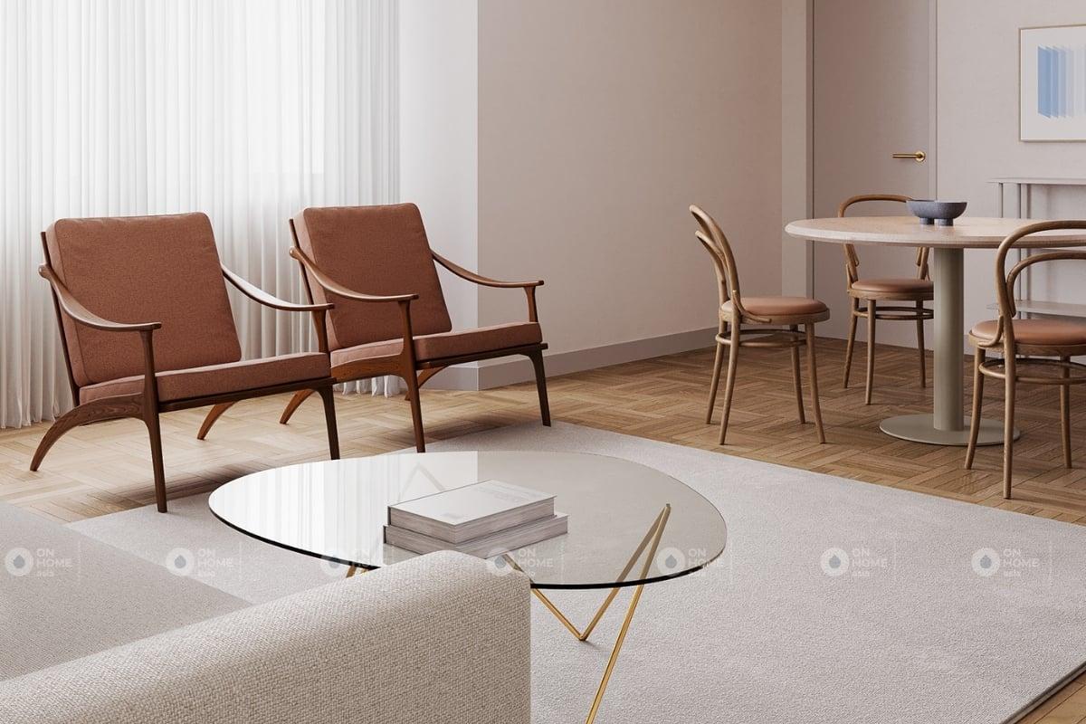 Thiết kế nội thất chung cư 60m2 phong cách Bắc Âu