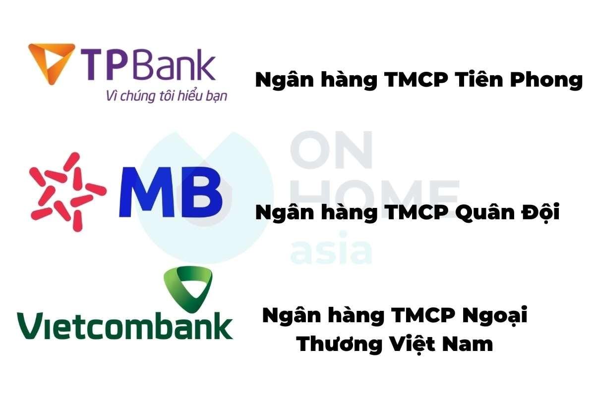 Những ngân hàng hỗ trợ cho dự án Eco Xuân