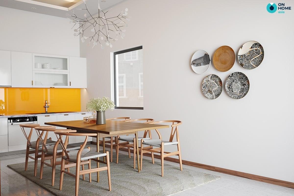 phòng bếp nhà ống thiết kế hiện đại