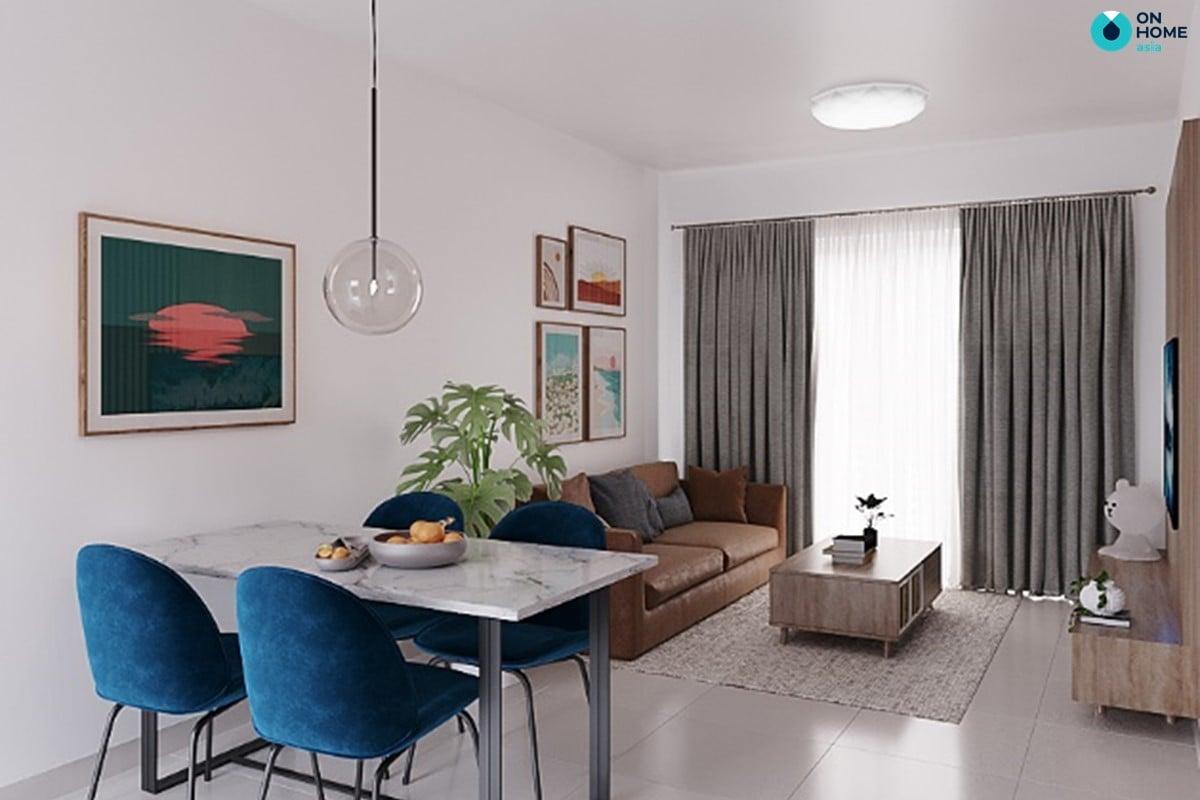 Bàn ăn căn hộ Habitat 2 phòng ngủ