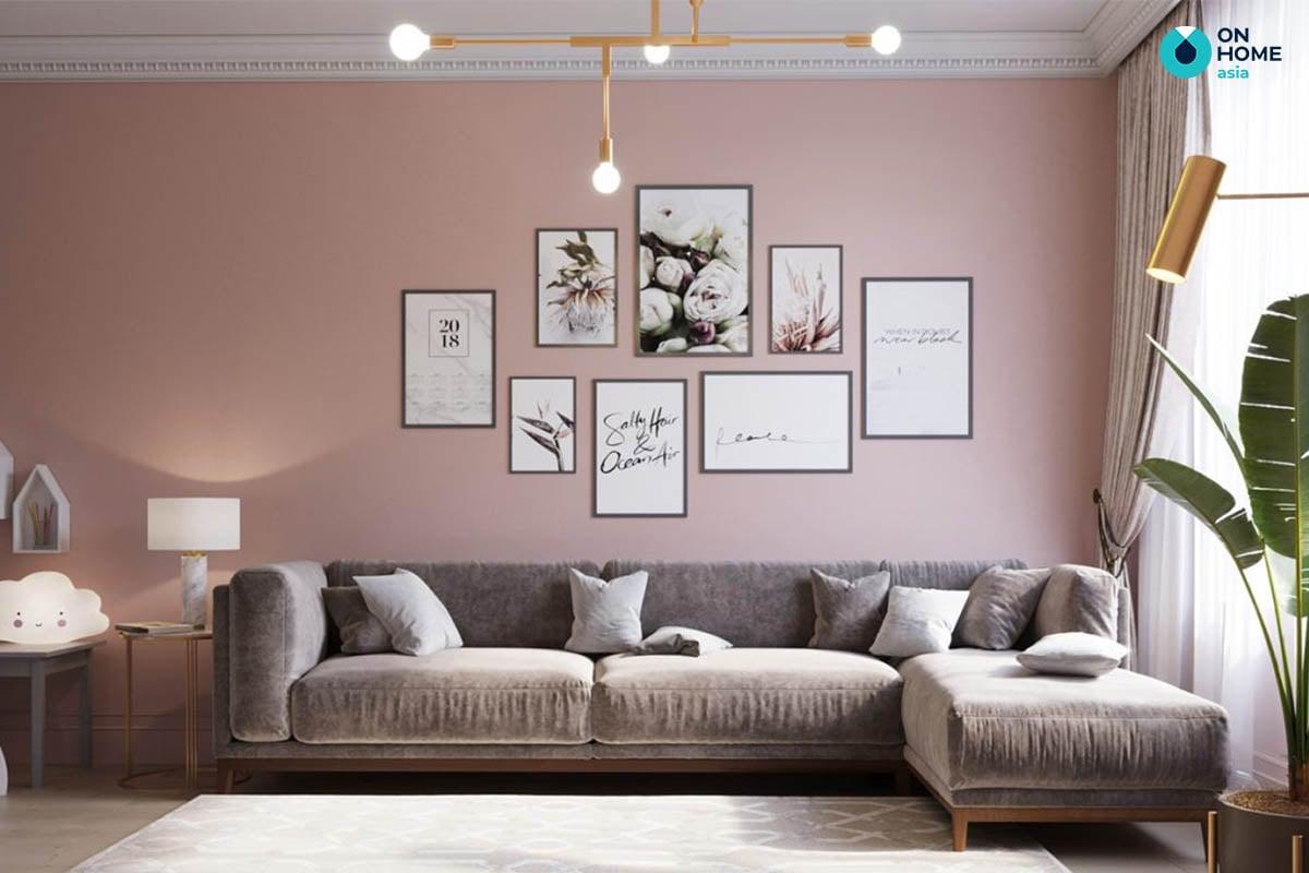 Phòng khách căn hộ của chị Kim Thanh