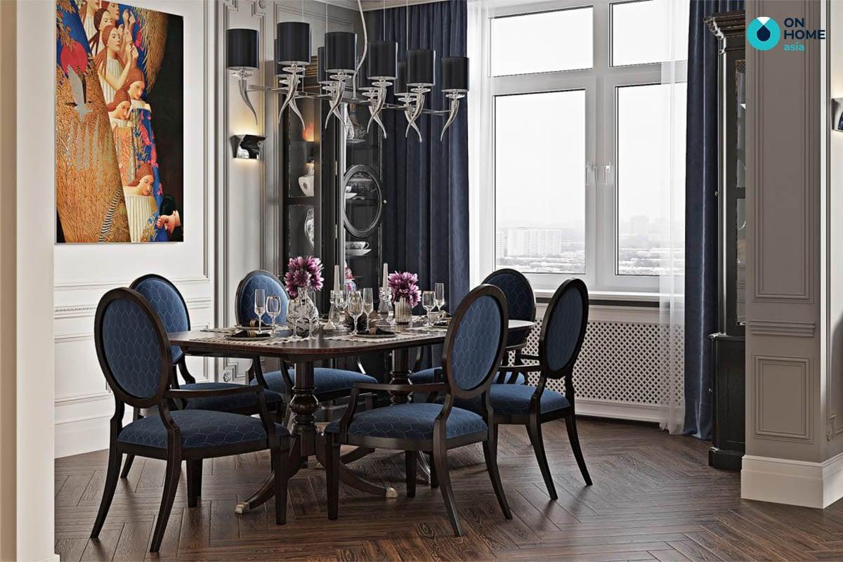 Phòng ăn căn hộ chung cư tân cổ điển