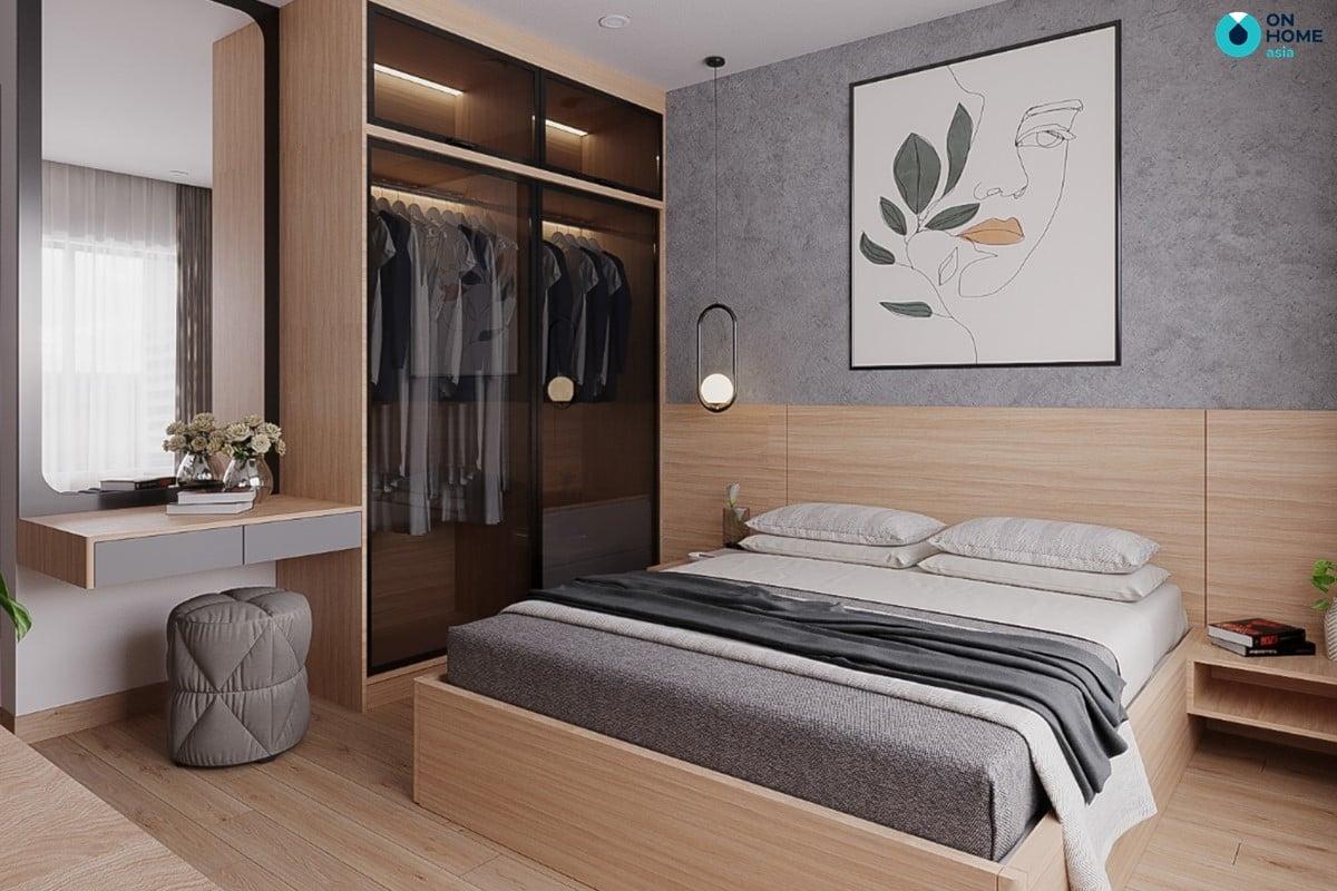 Nội thất phòng ngủ master căn 2BRC - Mẫu 4