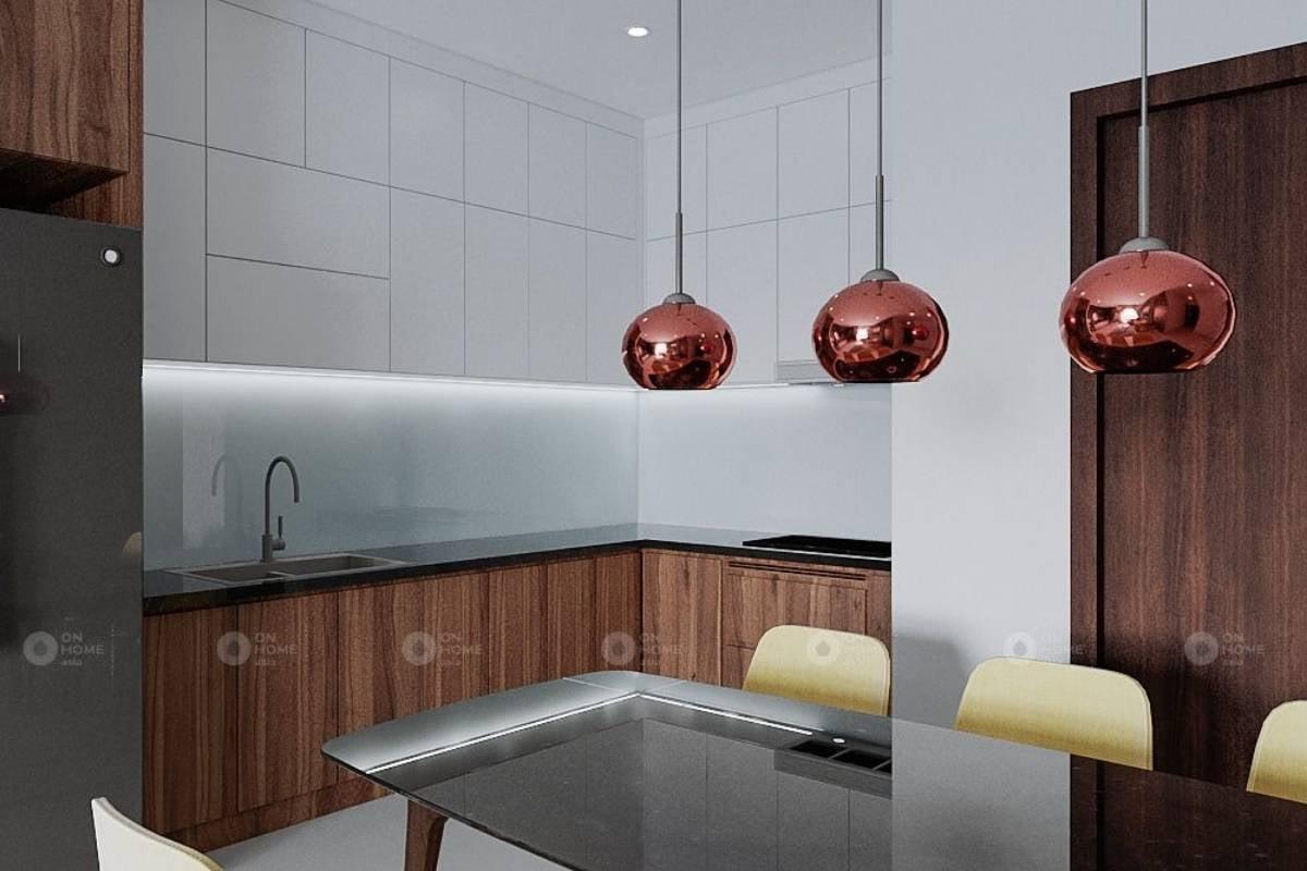 Thiết kế nội thất phòng bếp căn hộ Sora 2 phòng ngủ