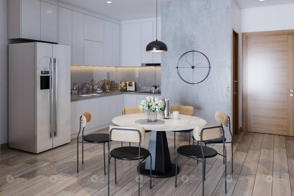 nội thất phòng bếp của căn hộ 3 phòng ngủ với phong cách hiện đại