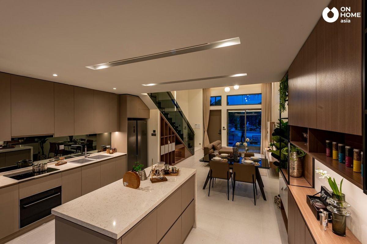 Nội thất phòng bếp nhà phố The Standard Central Park