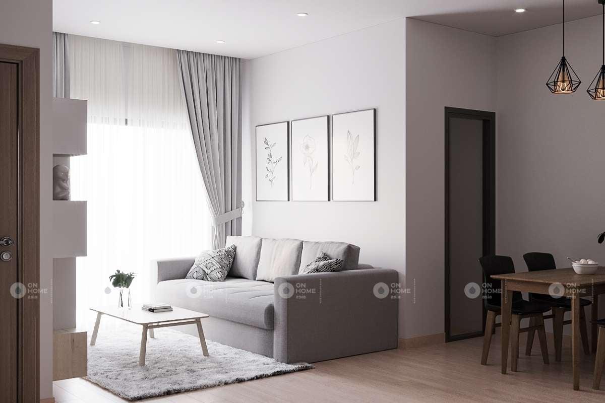 Không gian nội thất phòng khách Eco Xuân 2 phòng ngủ