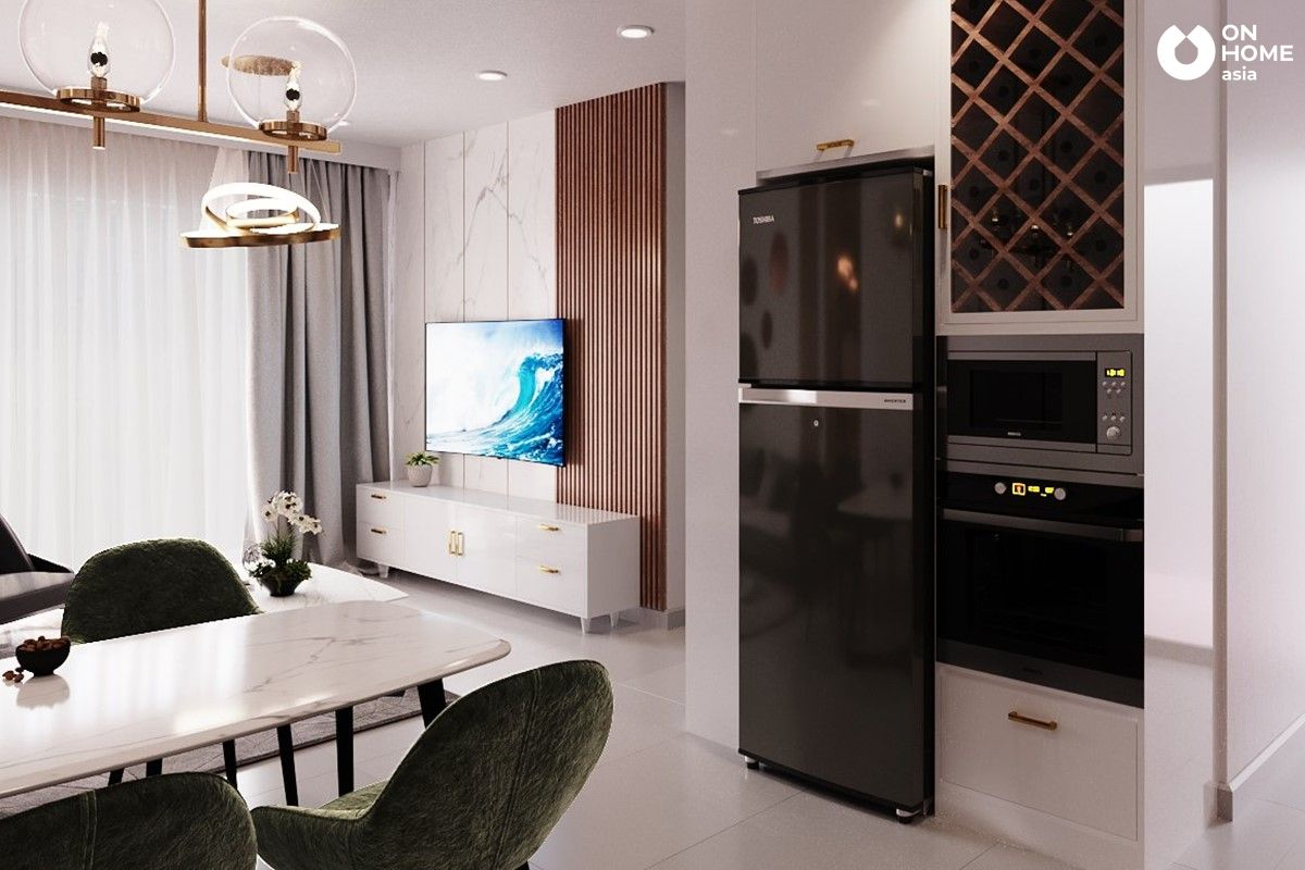 Thiết kế nội thất phòng khách căn hộ loại