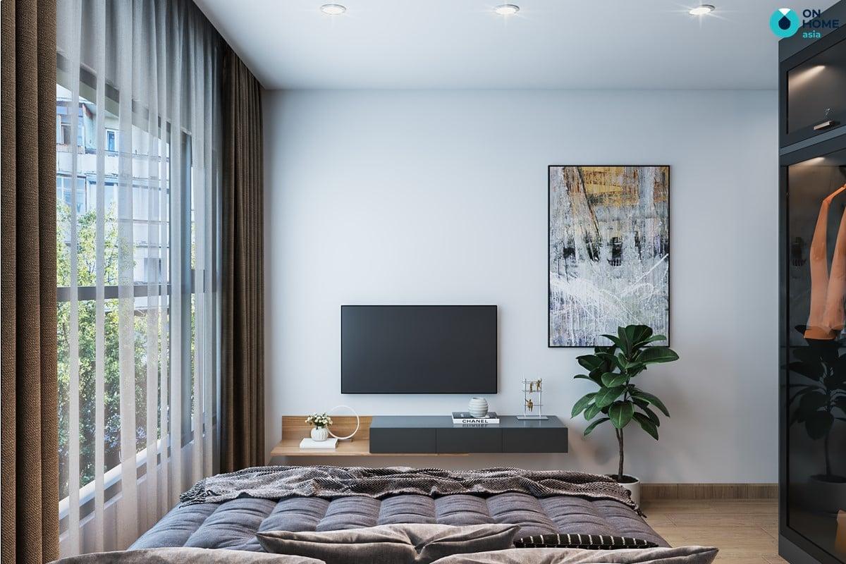 Nội thất phòng ngủ master căn hộ Compass One loại 2BRC - Mẫu 2