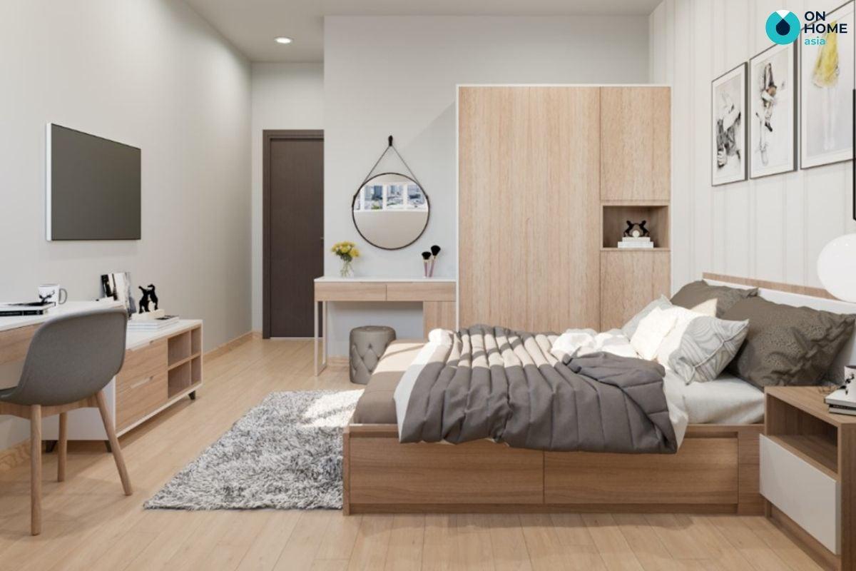 Thiết kế nội thất phòng ngủ ở chung cư The Habitat