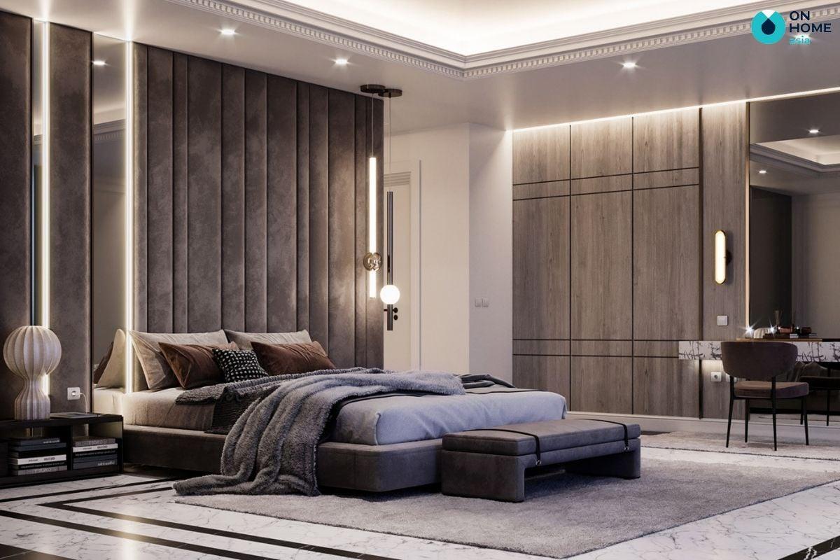 noi-that-phong-ngu-luxuryThiết kế nội thất phòng ngủ theo phong cách Luxury