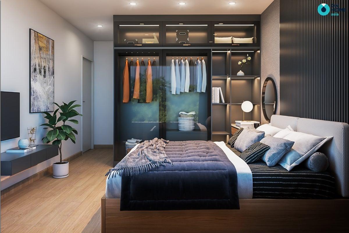 Nội thất phòng ngủ master căn 2BRC - Mẫu 2