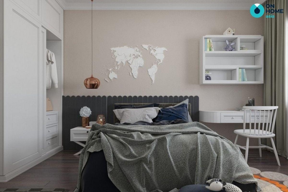 nội thất phòng ngủ của căn hộ 2 phòng ngủ