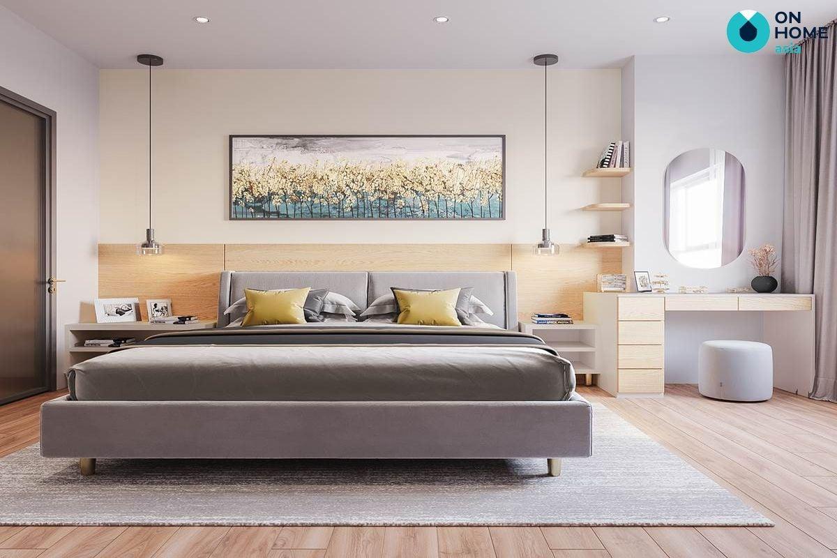 Nội thất phòng ngủ master chung cư The View 3 phòng ngủ