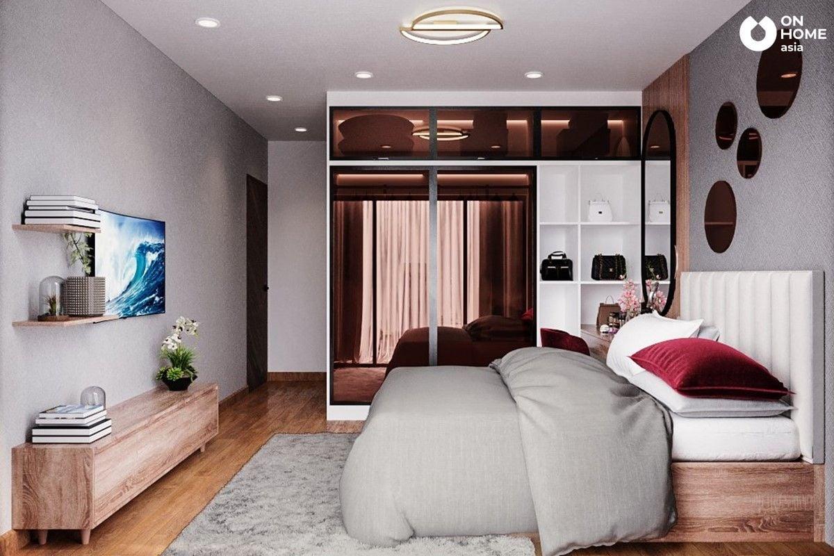 Phòng ngủ Master tôn lên sự tinh tế qua từng chi tiết nội thất