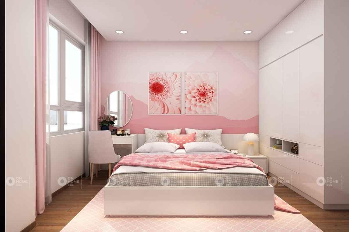 Nội thất phòng ngủ màu hồng đẹp