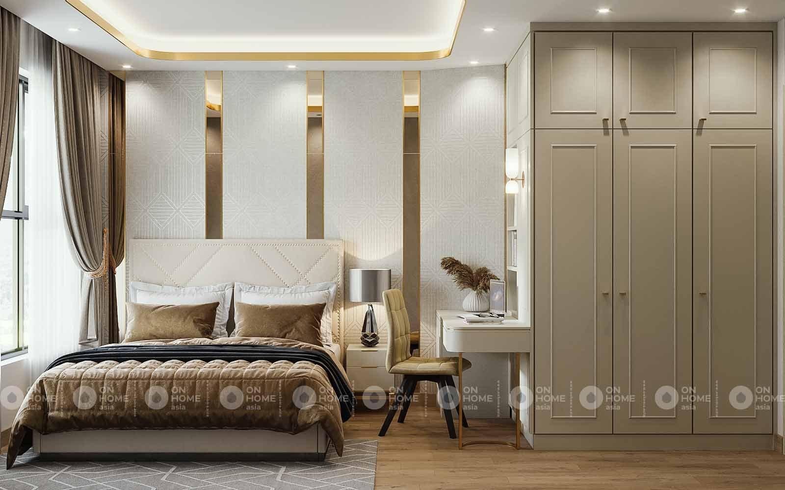 Thiết kế nội thất phòng ngủ Compass One phong cách luxury
