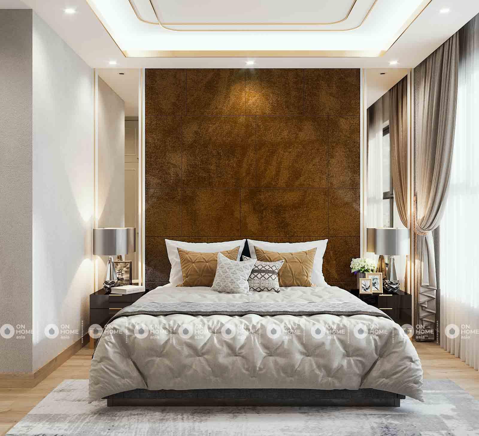 phòng ngủ sang trọng căn hộ compass one