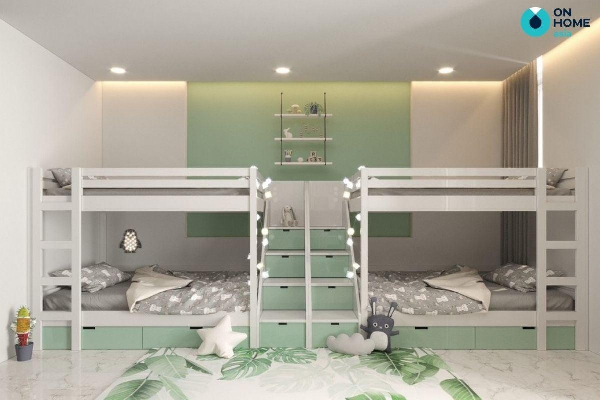 nội thất phòng ngủ trẻ em của căn hộ 2 phòng ngủ