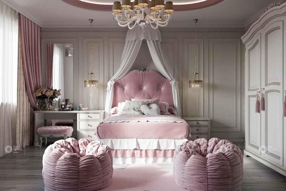 Nội thất tân cổ điển dành cho phòng ngủ