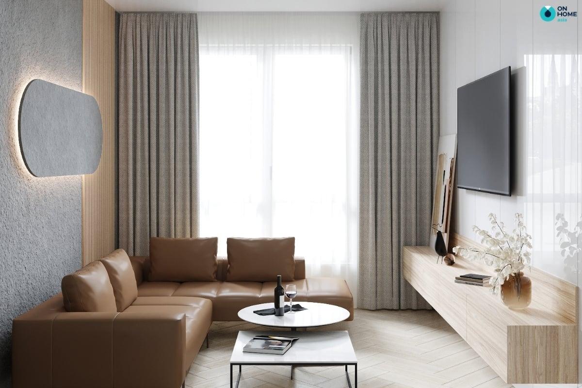 Nội thất phòng khách tối giản thông minh