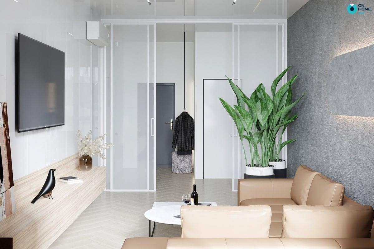 Nội thất phòng khách tối giản nội thất