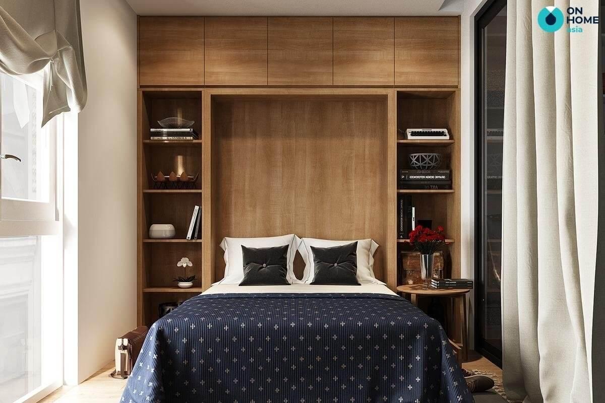 nội thất tiện nghi cho phòng ngủ 20m2