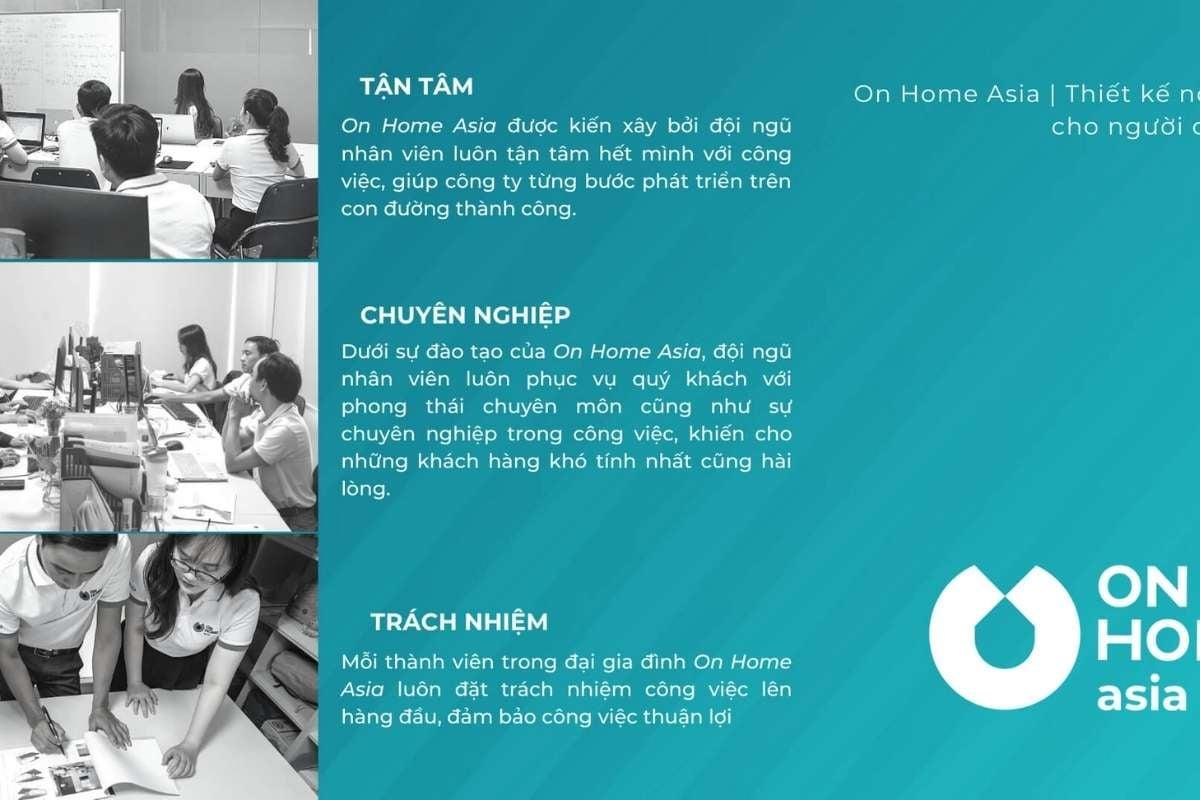 On Home Asia là đơn vị thiết kế thi công nội thất