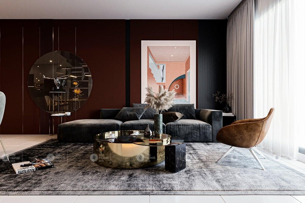 Thiết kế phòng khách chung cư sang chảnh