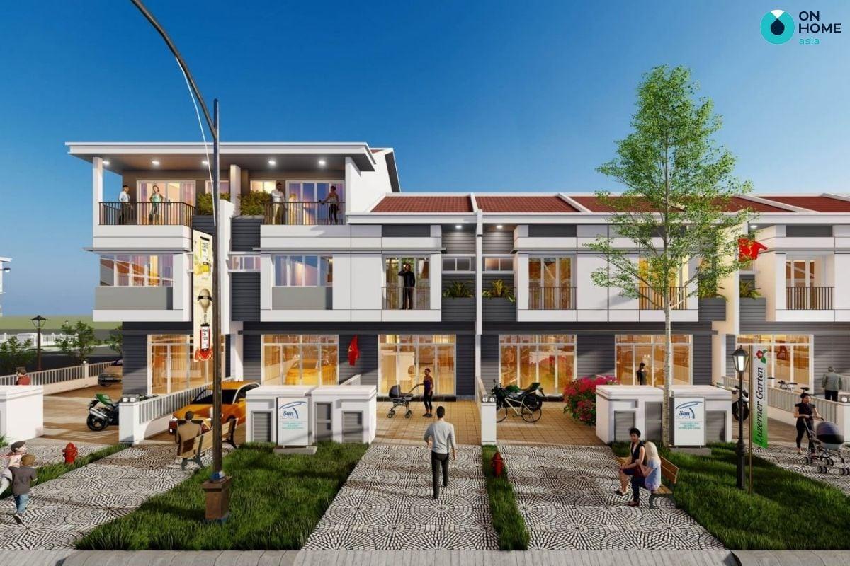 Phối cảnh dự án nhà phố Ecolakes Mỹ Phước