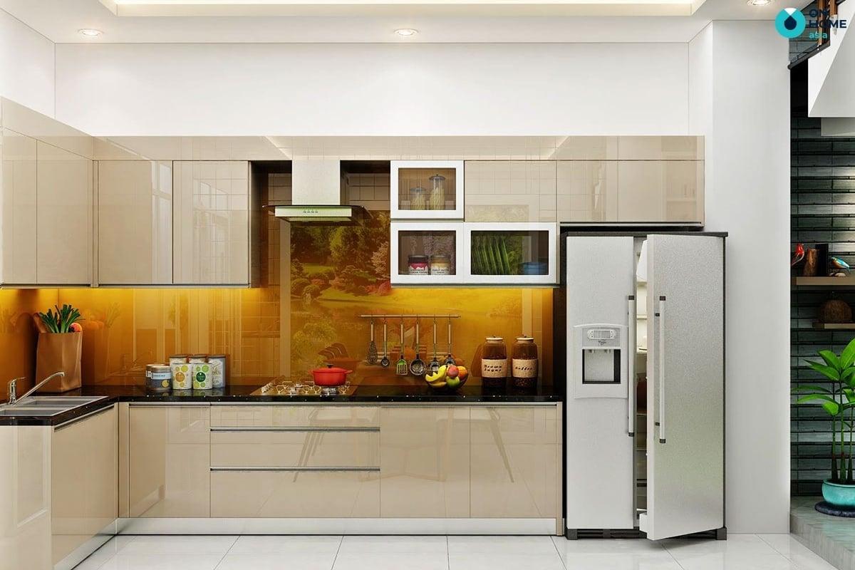 phòng bếp nhà ống thiết kế đẹp mắt