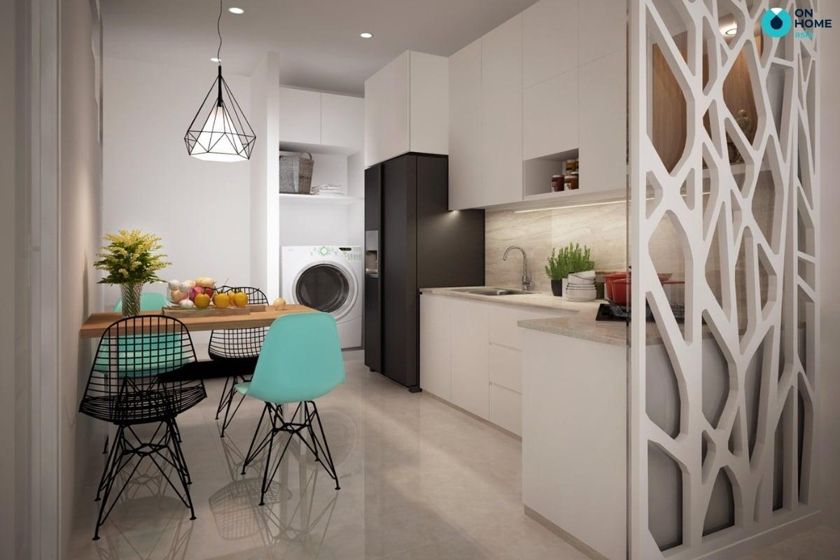 phòng bếp có vách ngăn
