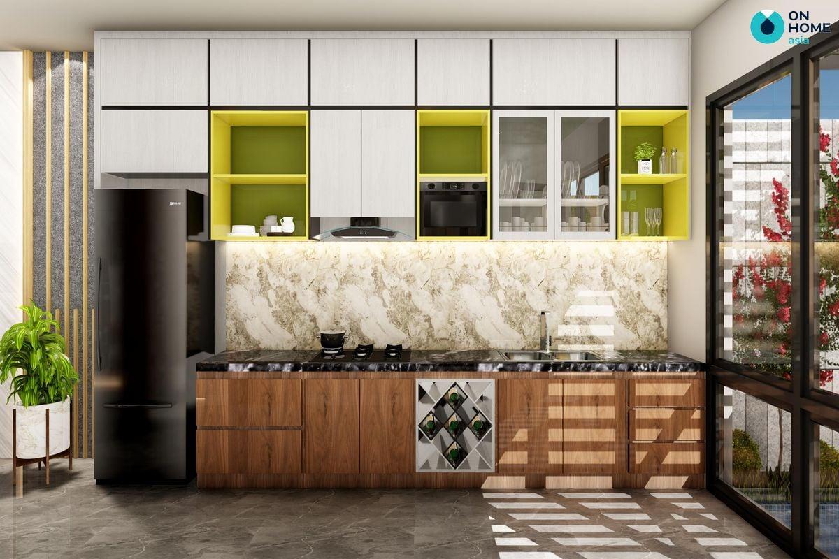 Phòng bếp dự  án nhà phố Ecolakes