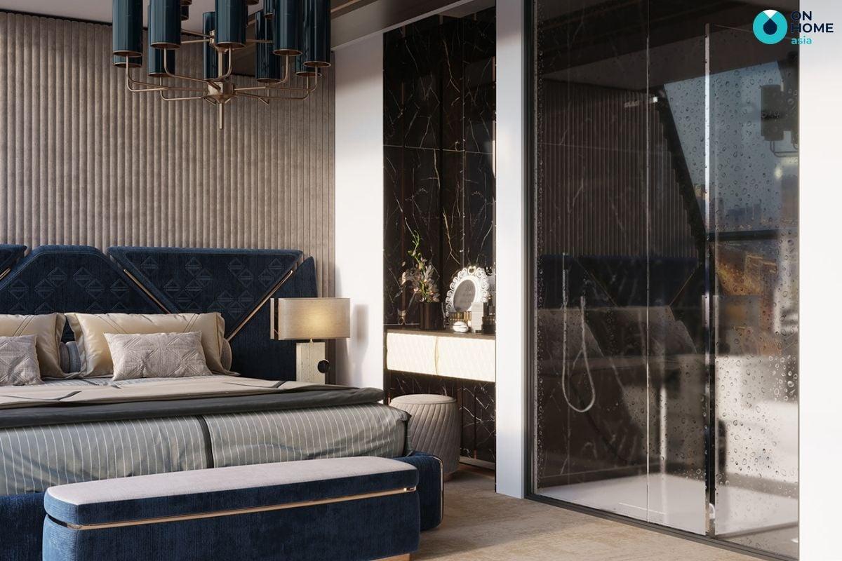 Thiết kế nội thất phòng ngủ theo phong cách Luxury