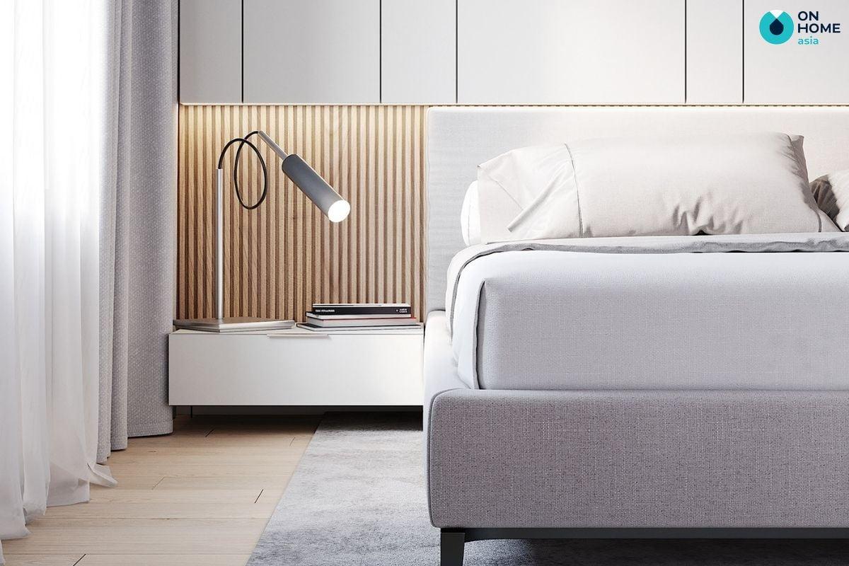 Nội thất phòng ngủ với phong cách tối giản