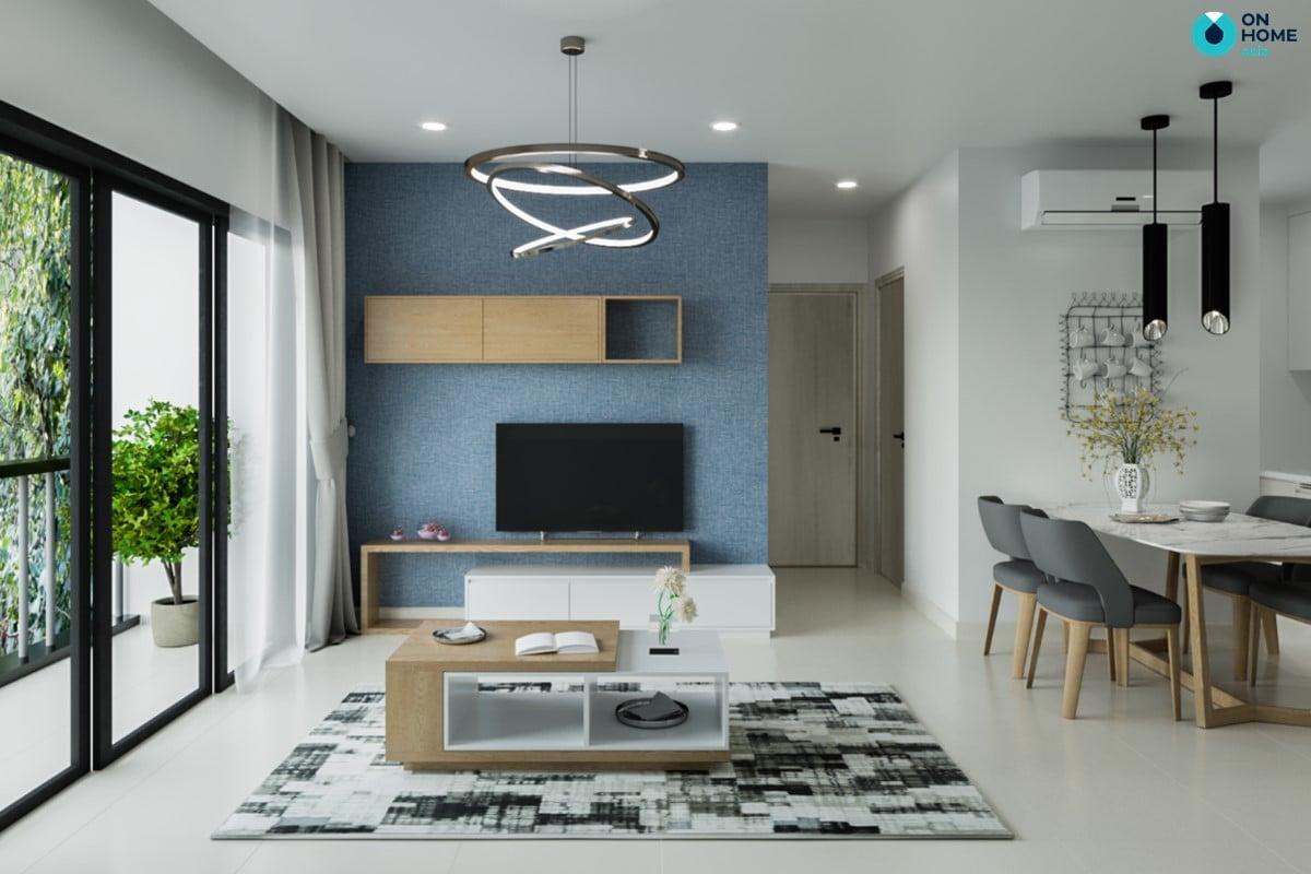 Nội thất phòng khách căn hộ Compass One loại 2BRC - Mẫu 3