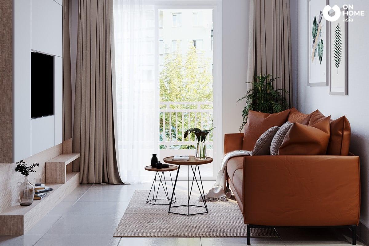 Nội khách phòng khách căn hộ chung cư The View