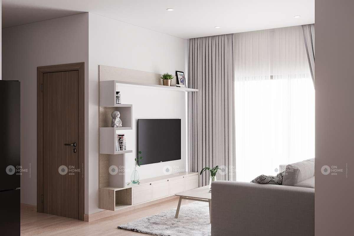 Nội thất phòng khách căn hộ chung cư Eco Xuân Lái Thiêu 2 phòng ngủ